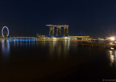 Merlion, Singapur Flyer, Marina Bay Sands, Singapur