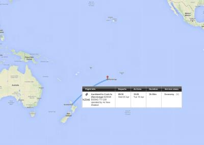Auckland Rarotonga mit Air New Zealand