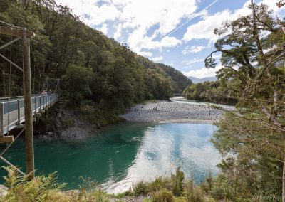 Kurzwanderung zu den Blue Pools, am Haast Pass, West Coast, Neuseeland