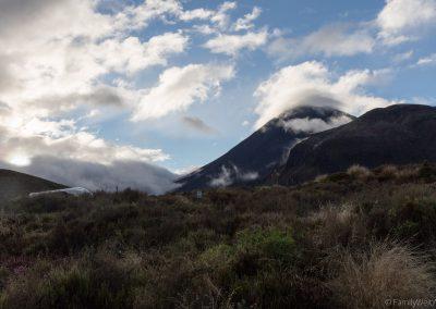 Blick auf den Mount Ngauruhoe, Tongariro NP, Neuseeland