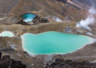 Blick auf die Emerald Lakes, Tongariro NP, Neuseeland