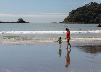 Beach bei Mount Maunganui, Bay of Plenty, Neuseeland