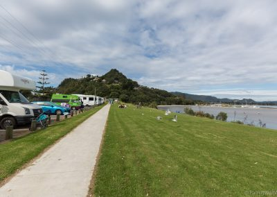Stellplatz bei Tairua, Coromandel Peninsula,  Neuseeland