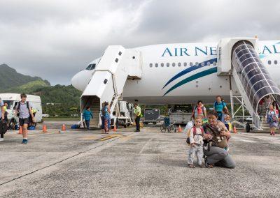 Ankunft in Rarotonga, Cookinseln
