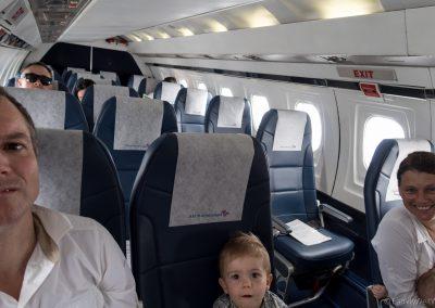 Flug von Rarotonga nach Aitutaki, Cookinseln