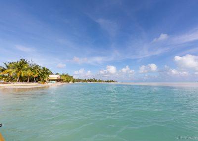 Lagune beim Ootu Beach, Aitutaki, Cookinseln