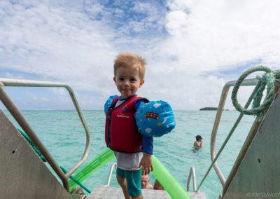 Matteo will auch schnorcheln, Lagoon Cruise , Aitutaki, Cookinse