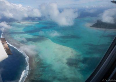 Die Lagune von Aitutaki von oben, Cookinseln