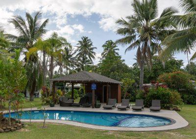 Pool im Palm Grove, Rarotonga, Cookinseln