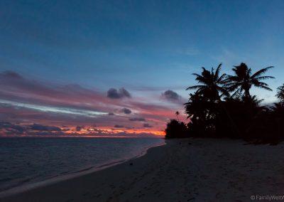 Sonnenuntergang, Rarotonga, Cookinseln