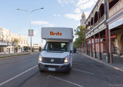 Historische Hauptstraße Kalgoorlie, West-Australien