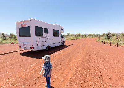 Parkplatz am Dales Gorge, Karijini NP, West-Australien