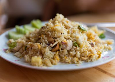 Fried Rice with Cashew Nuts, Pineapple, Chicken, Ko Lipe
