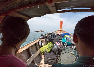 Transfer mit dem Longtail Boot, Ko Lipe