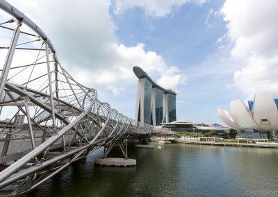 Helix Bridge, Marina Bay Sands, Singapur